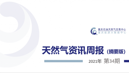 【2021年第34期】天然气资讯周报(摘要版)